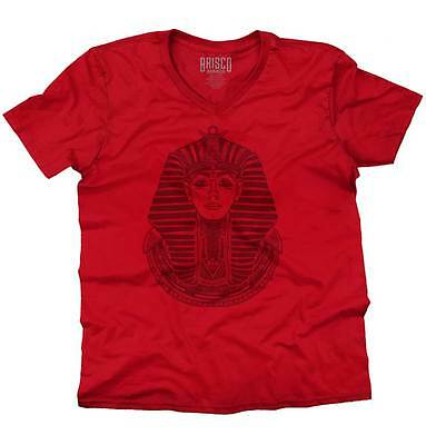 Ancient Egyptian Pharaoh Shirt | Mystic Scarab Symbol Tarot V-Neck T Shirt