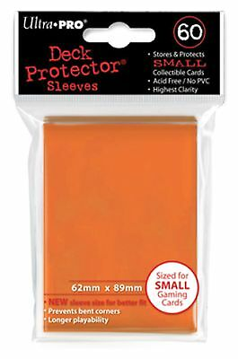 Ultra Pro Deck Protector Sleeves x60 - Small - Orange (for Yu-Gi-Oh etc.)
