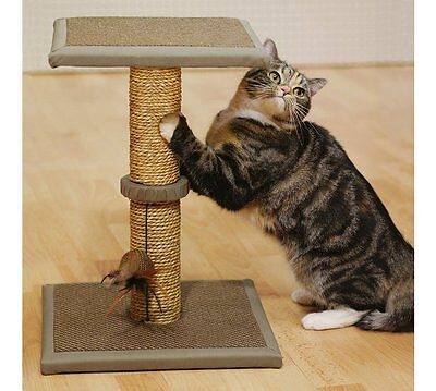 Cat Scratch and Rest Station New Natural Coloured Seagrass Cat Tree Post House