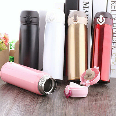 Vacuum Cup Flask Unbreakable Stainless Steel Coffee Bottle Thermos 500 ml New GU