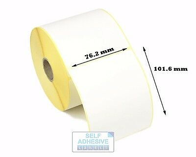 10,000 101.6mm x 152.4mm White Direct Thermal Labels 44mm Core