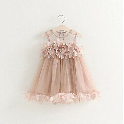 Cute Princess Girls Toddler Kids Birthday Party Evening Pageant Lace Tutu Dress