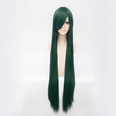100cm Dark Green Straight Hyouka Chitanda Eru Anime Cosplay Wig +Cap Halloween