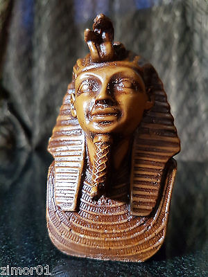 Egyptian Statue Pharaoh Tutankhamun Hand Made In Egypt Art Collectable Antique