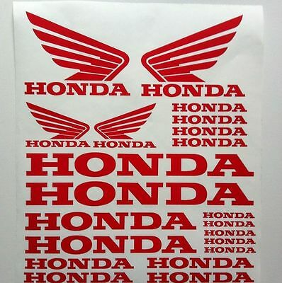 Honda Wings Motorcycle Tank Helmet  Logo Decal Set Car Van Stickers All Colours
