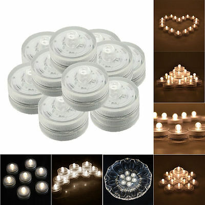 Coin Battery Included 12pcs LED Warm White Tea Light Submersible Candle Lights