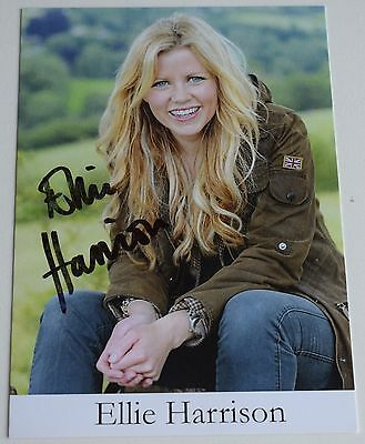 Ellie Harrison SIGNED Official Photo Card Autograph Countryfile TV AFTAL COA
