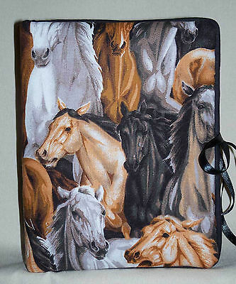 """Many Types of Horses Handcrafted Handmade Photo Album Holds 80 4""""X6"""" NEW"""