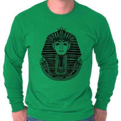 Ancient Egyptian Pharaoh Shirt | Mystic Scarab Symbol Tarot Long Sleeve Tee