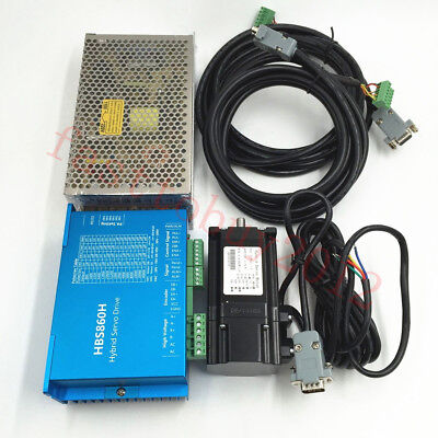 Nema34/Nema23 2.2NM -12NM DSP Closed Loop Stepper Drive+Motor+Power DC36V AC60V