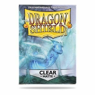 Dragon Shield - Standard Size Matte Sleeves x 100 - Clear