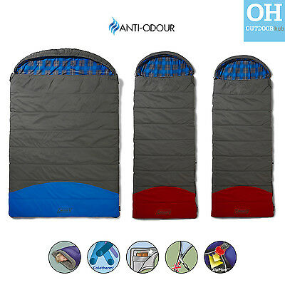 Coleman Basalt Sleeping Bag Single Double Comfort Envelope Camping Tent Party