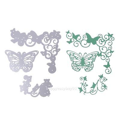 3pcs Butterfly Metal Cutting Dies Stencil for DIY Album Scrapbooking Card Paper