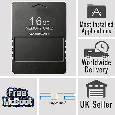 Free McBoot FMCB 1.953 Sony Playstation2 PS2 16MB Memory Card Cards OPL MC Boot
