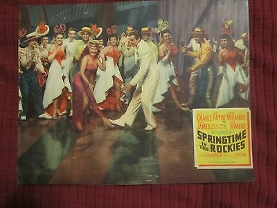 Springtime In The Rockies (1942) Betty Grable/cesar Romero Trimmed Lobby Card