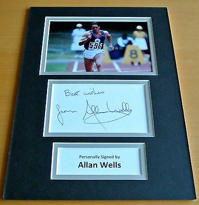 Allan Wells SIGNED autograph A4 Photo Mount Display Olympics Memorabilia & COA