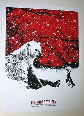 Rob Jones White Stripes Poster Print Blackpool UK S/N x/240 11/10/05-11/11/05