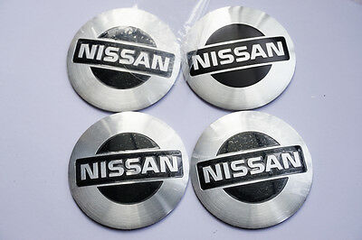 4Pcs 56.5mm Auto Car Sticker Wheel Center Hub Cap Logo Aluminium fit for Nissan