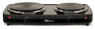 Double Buffet Burner Electric Stove Hot Plate Portable Kitchen Cooktop New