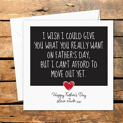 Personalised Handmade Fathers Day Card Funny Rude Dad Daddy Joke Adult Humour