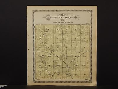 Iowa Wright County Map Eagle Grove Township 1912    K12#12
