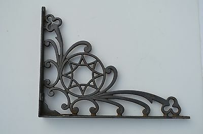 One Fantastic Antique Cast Iron Shelf Bracket 8 Point Star Pattern