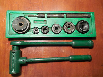 "Greenlee 1804 GUARANTEED Ratchet Driver Set 1/2-2"" 3/4 1 1-1/4 1-1/2 punch"
