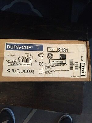 New Critikon Dura-Cuf Blood Pressure Cuff Thigh  (31-40cm)-ref 2131 Lot Of 5