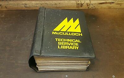 VINTAGE 1970'S Mc CULLOCH CHAINSAW DEALERS TECHNICAL SERVICE LIBRARY