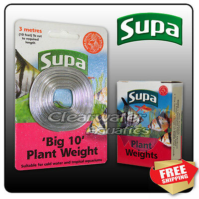 SUPA Aquarium Live PLANT SAFE LEAD WEIGHTS Fish Tank TROPICAL DIY Decor Anchor
