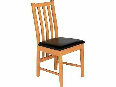Ascot Pair Of Oak Dining Chairs - Black