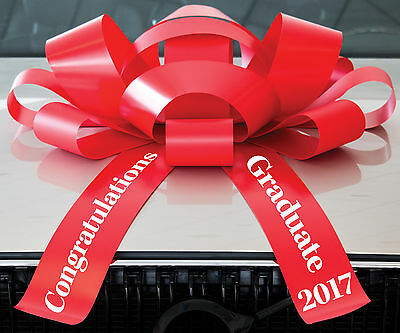 Big Car Bow | Congratulations 2017 Graduate | Magnetic Back, Vinyl, No Scratch