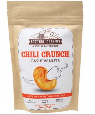 EAST BALI CASHEWS Cashew Nuts Chili Crunch 65g
