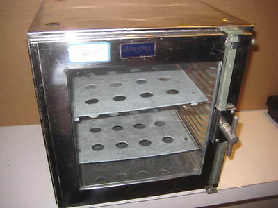 """Boekel Stainless Steel w/ Glass Desiccator / Dry Box  approx 12"""" square"""