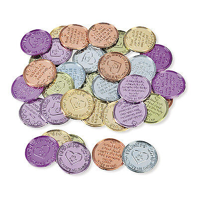 144 Colorful Plastic Kindness Coins BIRTHDAY PARTY favors CLASSROOM TREASURE BOX