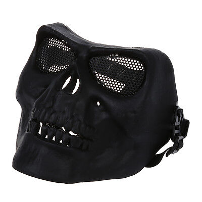 Full Face Protect Mask Scary Skull Skeleton Airsoft Paintball Hunting B1F9