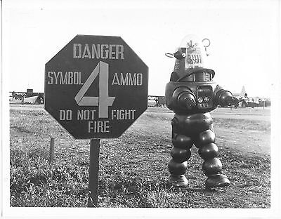 Invisible Boy/robby The Robot/1957/ 8X10 Photo From Original Neg. Cc19448  4-57