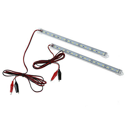 2pc 12V Car 15 LED 5630 SMD Interior Light Strip Lamp Bar Van Caravan Fish S2Y7
