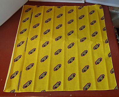 Jose Cuervo Tequila Bandanna Handkerchief Neckerchief Yellow Head Wear 90s 22x22