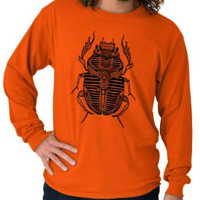 Ancient Egyptian Holy Scarab Beetle Spiritual Long Sleeve T Shirts Tees Tshirts