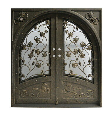 """72"""" x 96"""" Stunning, hand-crafted, 12-gauge wrought iron entry doors $3585"""