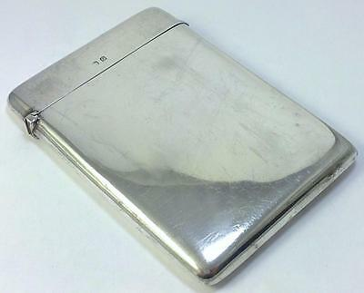 Antique hallmarked Sterling Silver 9.5cm x 7cm Card Case – 1913  (not inscribed)