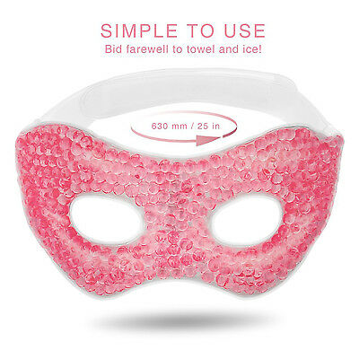 Sleep Mask,Stylish Gel Eye Mask for Bedtime&Travel,Cool/Warm Therapy Insomnia