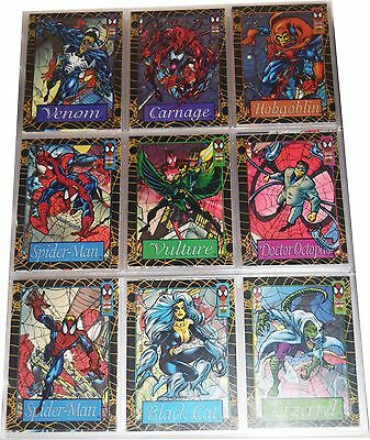 1994 Skybox Marvel Spiderman Hologram Suspended & Base Sets Mns016