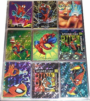 1992 Impel Spiderman 30Th Anniversary Set W/ Prizm Inserts Mns017