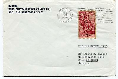 1966 USNS Chattahoochee (T-AOG-82) San Francisco Air Force Polar Antarctic Cover