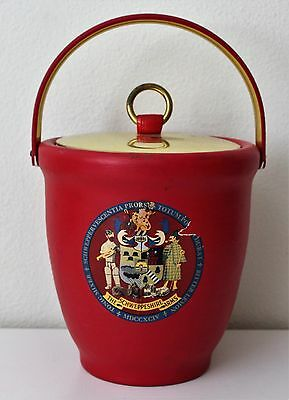 Vintage Schweppeshire Arms Ice Bucket cooler Schweppes Collectible RARE