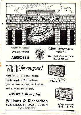 Aberdeen Friendly away matches 1959 to 2016