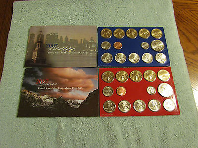 2007 US Mint Set P and D 28 Coins Sacagawea Presidential Dollars Kennedy