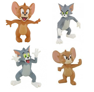 Official Bullyland Comansi Tom And Jerry Figures Toy Cake Topper Toppers
